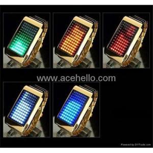 China LED fashion watch with 72 lights on sale