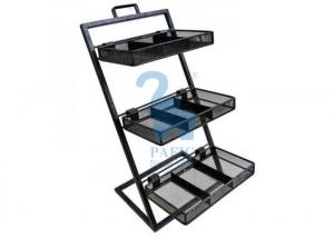 China Customised Size Stationery Display Rack Metal Flower Pot Stand Shelf For Flower Shop on sale