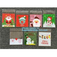 Hot 100pcs/lot Cute Snowflake Snowman Santa Xmas Christmas Gifts Holders Bake Biscuit Cookies Candy Jewelry Packaging Ba