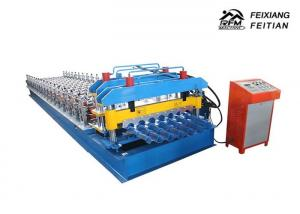 China Step Tile Roll Forming Machine , Color Steel Glazed Tile Making Machine on sale