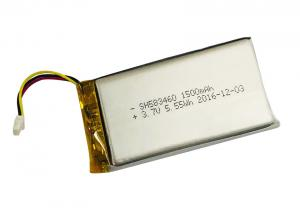 China Digital Devices High Temperature Rechargeable Lithium Battery 3.7V 1500mah for 583460 IEC62133 on sale
