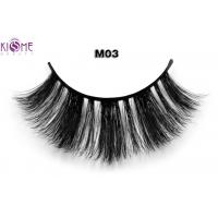 Whole sale new style 3D real horse hair eyelashes fur fake