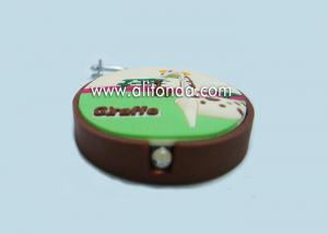 China Useful and funny mini type soft pvc keychain custom with led lighting function giraffe image design on sale