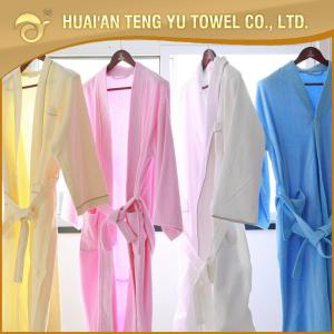 China Luxury cotton hotel terry cloth hotel  bathrobe on sale