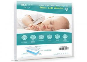 China Non Slip Baby Cot Mattress Protector , Infant Mattress Pad Softest Bamboo Rayon Fiber on sale