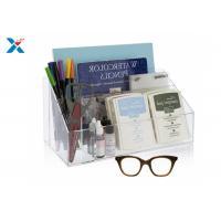 China Clear Acrylic Desk Organizer / Office Desk Organizer With 12 1/2″ X 7″ X 6″ on sale