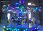 Rotary Ocean Merry Go Round Rides 16 Seat Fairground Carousel Horse