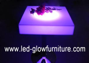 ... Quality Bar Furniture Illuminated Cocktail Table Top / Led End Tables  For Pub / Disco ...