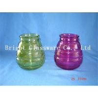 colorful glass candle jars, candle container,  candle holder sale