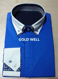 China Men's slim luxury dress shirts on sale