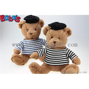 China Juguetes suaves del oso del regalo de la felpa del oso de peluche de la marina de guerra con la camisa rayada y el casquillo negro del marinero on sale