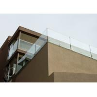 China Modern Deisgn Side Mounted Stainless Steel Standoff Glass Railing For Balcony on sale