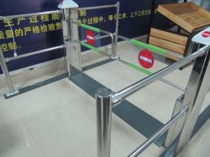 China Professional Supermarket Swing Gate Mechanical Turnstile Barrier Swing Gate on sale