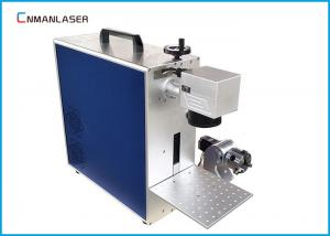 China 20w Alloy Pipes Metal Laser Marking Machine With Rotary Devices , Free Maintenance on sale