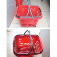 China Duralumin Pull Rod Virgin Plastic Rolling Trolley Shopping Basket With Wheels For Shopping Malls on sale