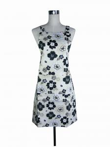 China Beautiful Floral Printed Custom Chef Aprons Daily Use Home Products on sale