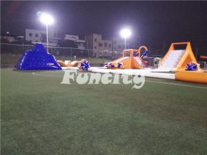 China Biggest Aquapark Runway Inflatable Water Slide Park In 38L*36W*8Hm Size on sale