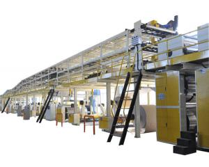 China 3/5/7 ply corrugated paperboard production line on sale