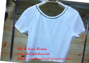 China Perfect Gently Used Clothes Second Hand Sports Clothing White Short Shirt on sale