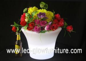 China Outdoor Plastic PE illuminated glow in the dark flower pot for family, wedding , party on sale