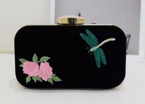 China Retro Peony Flower Embroidered Shoulder Bag, Dragonfly Pattern Personalised Clutch Bag on sale