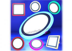 China Colorful RGB Led Panel Lights Recessed Round Die-casting Aluminum for Club on sale