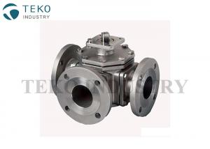 China Multi Way SS Ball Valve Flange Type 1/2 To 8 L Port RB For Isolation Process on sale