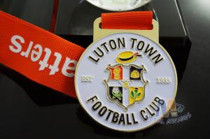 Quality Custom Metal Zinc Alloy Football Medals Soft Enamel with Europe Printing Ribbon for sale
