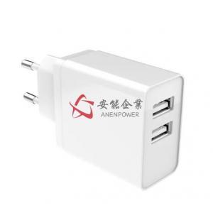 China 5V4.8A 3.2A 3.4A Dual USB Smart Charger, EU Plug , GS CE ROHS Approval , Level VI on sale