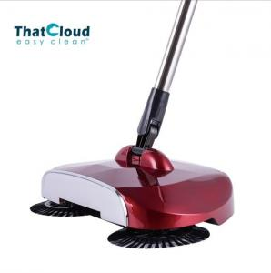 China Eco - Friendly Creative Spin Brush Floor Sweeper Stainless Steel Tube Handle on sale