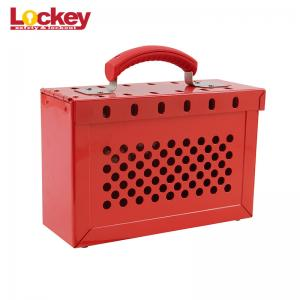 LOTO Box for Lockout Tagout Lock Devices Storage up to 13 Padlocks.