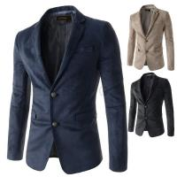 Factory stock wholesale cheap high quality mens slim fit suede blazer jacket