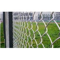 Zine Coated Portable Chain Link Fence Panels Security , 1.2-5mm Wire Dia