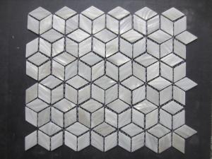 China Shell Mosaic Tiles (Mother of Pearl Tiles) Natural white, Natural shell, With gaps on sale