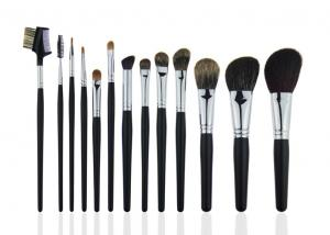 China Eyebrow Comb Foundation Makeup Brush Set  Animal Hair A Black Wooden Handle on sale