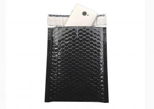 Quality Black Bubble Mailers 180x250 Gloss Metallic Bubble Envelope for Shipping for sale