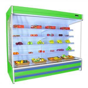 China Remote Compressor Air Cooling Upright Multideck Refrigerator For Supermarket on sale
