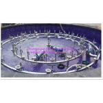 China Led Underwater Lights 2 Rings Programe Fountain 3 Patterns With Pump / Pipe Frame wholesale