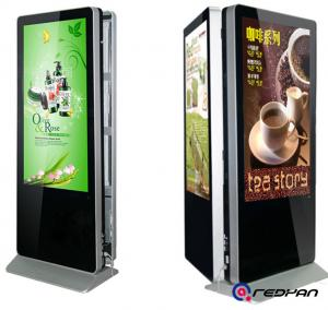 China Double Sides Sunlight Readable Floor Standing Digital Signage Display 2000 Nits Brightness on sale