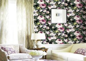 China Mould Proof 3d Natural Flowers Wallpaper For Home Decor , Eco Friendly on sale