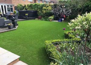 China Height 3 / 4 Inch Artificial Putting Green , Landscaping Artificial Lawn Grass on sale