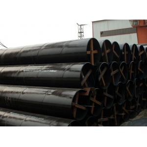China Le tuyau de gisement de pétrole de Spéc. 5L SSAW d'api, ligne PE a enduit le tuyau de gazoduc X42 X46 X52 on sale