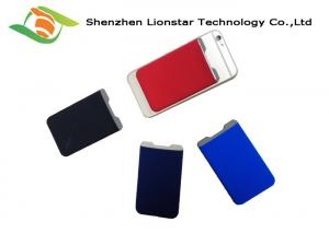 China Lycra Cell Phone Pocket Card Holder For Credit Card / Transportation Card on sale