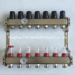 Distribuidores de aço inoxidável ajustados para o aquecimento Underfloor com com o calibre da temperatura (0-80°C)