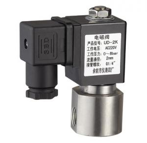 China SS Miniature Solenoid Valve Fluid Electric Solenoid Air Valve NO 24VDC 10mm on sale