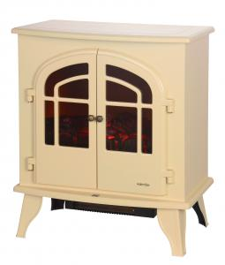 China Beige White Freestanding Electric Fireplace TNP-2008S-C2 With High Efficiency on sale