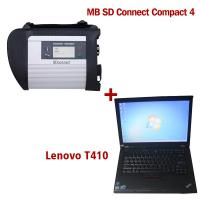 China 2017.12V Wireless MB SD C4 Mercedes Diagnostic Tool With I5 CPU 4G Memory Lenovo T410 on sale