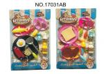 Pretend Cooking Childrens Toy Kitchen Sets 16 Pcs BBQ Hotdog Teppanyaki
