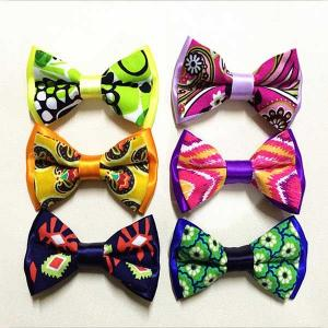 China Pre Tied Adjustable Ribbon Bow Crafts Handmade Mixed Assorted Color on sale