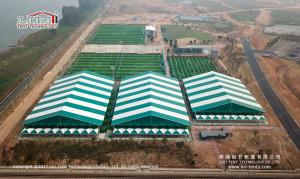 China 1000-3000M² Wind Loading Aluminum PVC Outdoor Sports Tent For Permanent Use on sale
